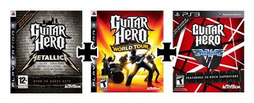 3 Jeux Guitar Hero - World Tour - Metallica - Van Halen - Neuf - PS3