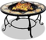 Centurion Supports Fireology Calagora somptueux Jardin et Patio Brasero, Brasero, Table Basse, Barbecue et Seau à Glace avec Ardoise carrelage