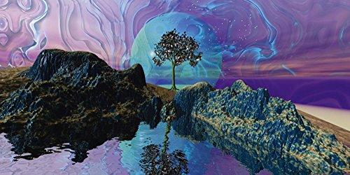 Artland Qualitätsbilder I Poster Kunstdruck Bilder 60 x 30 cm Fantasy Mythologie Landschaften Digitale Kunst Pink Rosa B1ZE Luzides Träumen