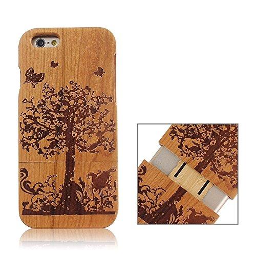 Zhou-covers, per iphone 6 & 6s, caso di legno separabile di modello della bandierina del regno unito (sku : s-ip6g-0336l)