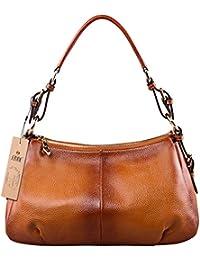 37d7cbc52f91 S-ZONE Geniune Leather Handbags for Women Ladies Purse Tote Shoulder Bag
