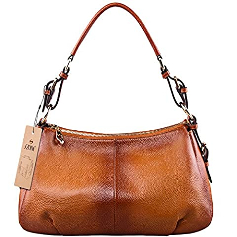 S-ZONE Geniune Leather Handbags for Women Ladies Purse Tote Shoulder