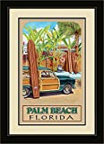 Northwest Art Mall ed-5839fgdm BAX Palm Beach Florida Beach Zugang gerahmtes Wandbild Kunst von Künstlerin Evelyn Jenkins Drew, 40,6x 55,9cm