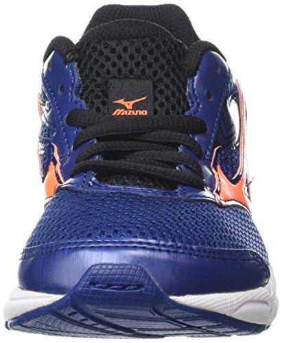 Mizuno - Wave Inspire 12 Jr - Chaussures de Running Compétition - Garçon Bleu (Twilight Blue/Black/Clownfish)