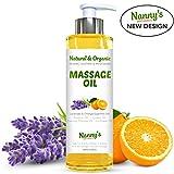 Natürliches & organisches Massageöl | Lavendel & Orange ätherische Öle | Entspannend & feuchtigkeitsspendend für Erwachsene, Kinder und Babys | 250ml