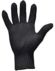 Remylady® Hitzeschutzhandschuh Profi-Handschuh, hitzeresistent, für Locken- und Glätteisen, Schwarz, 1 Stück (Schwarz)