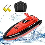 TOYEN Electric RC Boat Remote Control Boat for Kid- Red