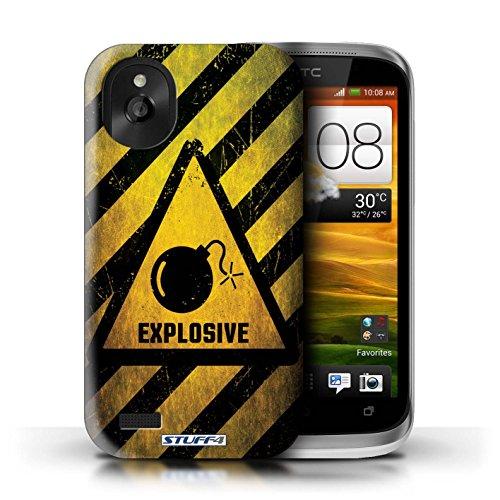 Kobalt® Imprimé Etui / Coque pour HTC Desire X / Décès/Faucheuse conception / Série Signes de Danger Explosif