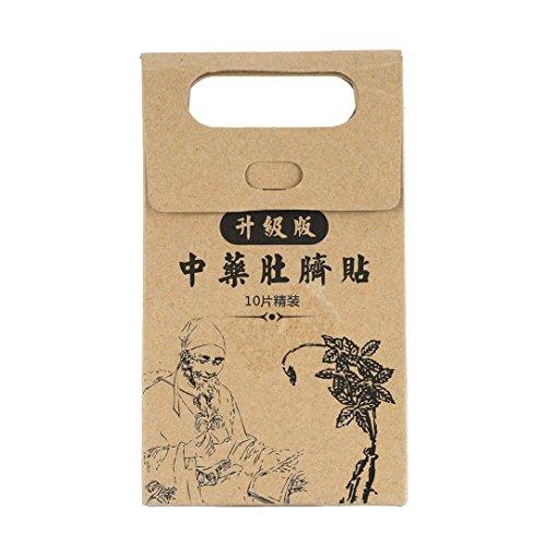 10 PCS Potent Abnehmen Paste Aufkleber dünne Taillen-Bauch Fett Verbrennungs-Flecken Chinesische Medizin Schlankheits Produkte für das Gesundheitswesen
