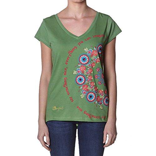 DESIGUAL - Maglietta da Donna ORGU Verde