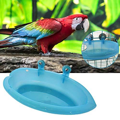 Welltobuy Badewanne für Haustiervögel mit Spiegel-kleinem Waschbecken Food Bowl Feeder