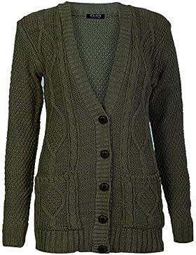 Zara Fashion-Womens Nonno Pulsante Chunky Fidanzato lavorato a maglia Cardigan