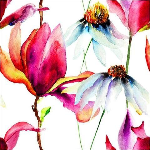 Impresión en metacrilato 20 x 20 cm: Magnolia and Camomile de Colourbox