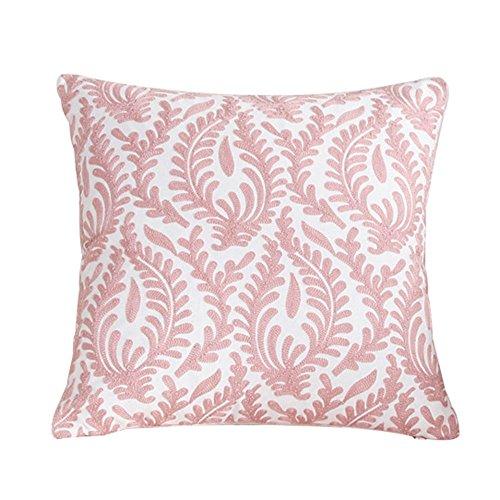 Treestar 1pcs arte bordado de color rosa rama de coral cuadrado protección de almohada Funda de almohada...