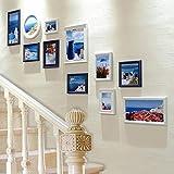 GUOOK Cornice Decorativa Foto Parete Decorazione Scala Parete Foto Parete Scatola combinata Corridoio corridoio Appeso Quadro Parete (Colore: B)