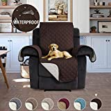 H.Versailtex Slip-Resistant Sofa Recliner Cover Recliner Slipcover Furniture Protector, 2' Thick Straps and Foams, Perfect for Kids,Pets – 22'' x 79'' Brown