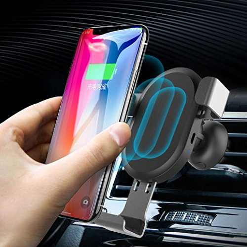 Ansenesna Zigarettenanzünder Ladegerät Radio Transmitter Quick Charge 10W QI für iPhone X 8 Samsung Note8 - Handys Entsperrt Phone I