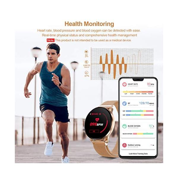 GOKOO Smartwatch Fashion para Hombre Mujer Impermeable Reloj Inteligente Monitores de Actividad Fitness Tracker con… 5
