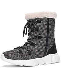 Voovix Ragazza Ragazzo Stivali da Neve Inverno Donna Caldo Scarpe Pelliccia  Boots Antiscivolo Impermeabile All  7b9dc72f2d3