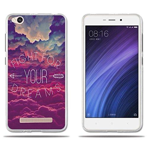 """Funda Carcasa para Xiaomi Redmi 4a, Carcasa de Silicona Transparente TPU, FUBAODA, Dibujo de Cielo Ensueño, Carcasa Protectora de Goma de Altisima Calidad para Xiaomi Redmi 4a (5.0"""") 2016"""