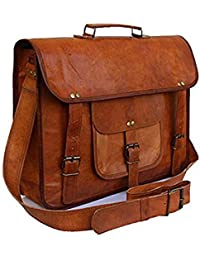 [Sponsored]pranjals House 15.6 Inch Genuine Leather Laptop Bag