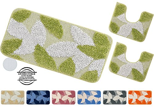 tappeto-bagno-parure-set-3-pezzi-fondo-antiscivolo-shaggy-moderno-bordato-made-in-italy-nisida-aranc