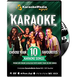 Canciones Karaoke - 10 Canciones a Elegir KaraokeMedia [DVD-USB-PC-MAC-VIDEOCONSOLAS]