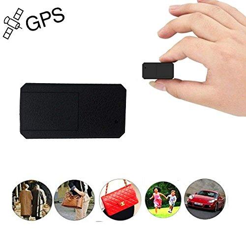 JUNEO Mini GPS Tracker,TKSTAR Anti Dieb Mini Echtzeit GPS Tracker Portable GPS Ortung Anti Verlust GPS Locator für Geldbörse Tasche Brieftasche Taschen Kinder Schulranzen mit App TK901