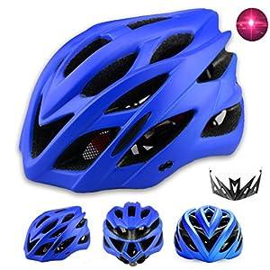 51nZl8muRcL. SS300 Dewuseller Adulto Casco Bici con Luci Led Sicurezza Cascos da Ciclismo con Visiera Leggero Caschi di MTB Insetti…