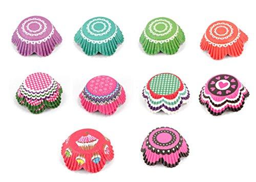 Papier-backförmchen Papier-förmchen Muffinförmchen Cupcakeförmchen Muffin Kapsel Cupcake Liner (BLUME- 250 - Blumen Cupcake-liner