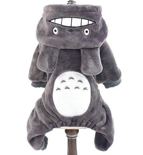 smalllee_lucky_store Pet/Kleine Hunde Katze Fleece Totoro Jumpsuit Pyjama Coat Halloween-Kostüm