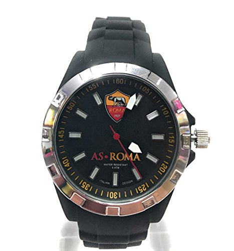 Orologio ufficiale As Roma - Unisex - nero - Waterprof - 34mm (Nero)