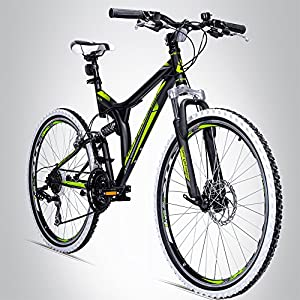 Bergsteiger Phoenix 26 Zoll Mountainbike, geeignet ab 160 cm, Scheibenbremse,...