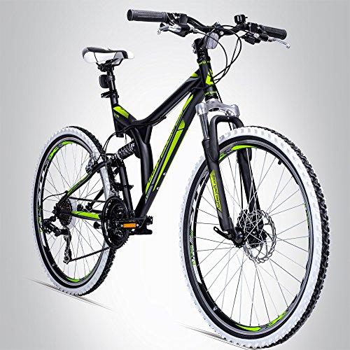 Bergsteiger Phoenix 26 Zoll Mountainbike, geeignet ab 160 cm, Scheibenbremse, Shimano 21 Gang-Schaltung, Vollfederung, Jungen-Fahrrad & Herren-Fahrrad (Bike Mountain 29)