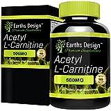 Acétyl-L-Carnitine - 500mg ALC - Hautement Dosé - Acide Aminé Acetyl L Carnitine - Convient aux Végétariens - 90 Capsules (3 Mois d'Approvisionnement) de Earths Design