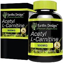 Acetil L Carnitina, Potente quemagrasas. Aminoácido que funciona como supresor del apetito e incrementa la pérdida de peso. La L-Carnitina combate la fatiga y aumenta la resistencia, 500mg 90 cápsulas