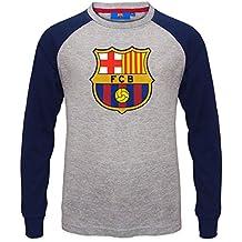 FC Barcelona - Camiseta oficial con mangas raglán - Para niños - Con el escudo del