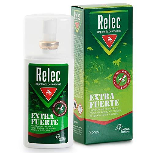 Relec Extra Fuerte Spray Eficaz Antimosquitos DEET 50{c0265fa15d6a9b9c0dbbcb8057f35f51538da63ada50f7bf60cccc6f34117acd}. Repelente mosquitos - 75 ml