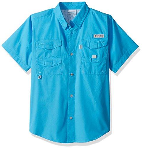 Columbia Boys Bonehead Short Sleeve Shirt, Riptide, Large