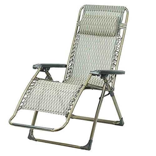 QIDI Chaise Longue Pliante Simple Métal 96 * 69cm