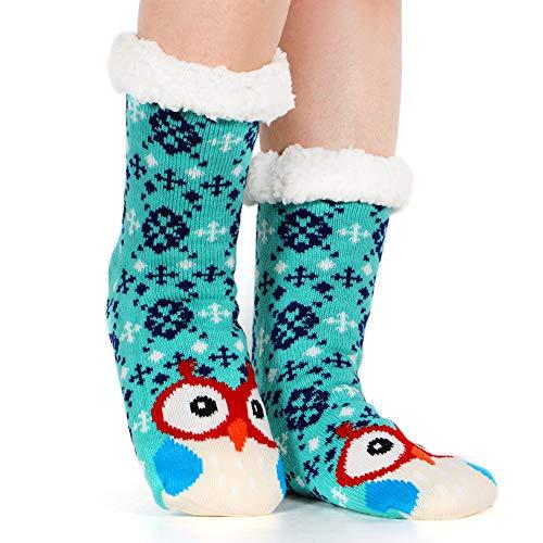 f094dc31bfc Tacobear Mujeres Gruesos lana calcetines de piso casa abrigados calcetines  de mujeres antideslizantes calcetines de alfombra