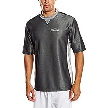 Spalding Referee Pro Camiseta de Árbitro, Hombre, Negro/Gris/Plata, ...