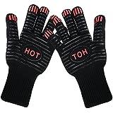 Aodoor 2 Guantes de cocina Guantes del horno, Resistente al calor guantes t - se puede utilizar como mitón del horno, sostenedores de pote, de la hornada, chimenea y guantes de cocina (hasta 250 ºC)