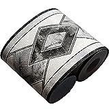 Da Jia Inc, 10,7x 499,1cm bordo per carta da parati 3D impermeabile, decorazione autoadesiva rimovibile per cucina, bagno, piastrelle, 10,6 cm x 5 m Diamond Black
