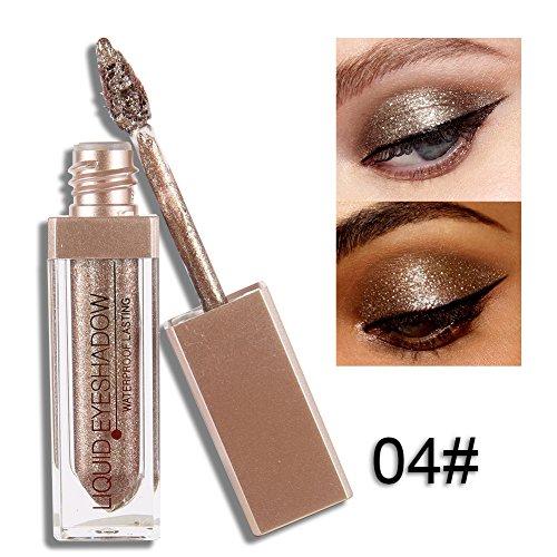 Liquid Waterproof Eye Makeup Remover (ROPALIA 12 Farben Glitter Liquid Lidschatten Wasserdichte Dauerhafte Augenschatten Make-up)