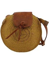 1e55ad944 MISEMIYA - Bolsos rafia para mujer bolso shopper bolso de mano SR-YL827(25