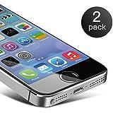 Verre trempé iPhone 5S,Coolreall® 2-pack (0.25mm) film Protection écran pour APPLE iPhone 5 / 5s / 5C / SE vitre Haute Définition Protecteur écran Dureté 9H Sans Bulles