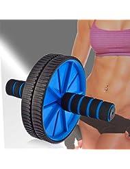 Rueda Abdominal Ab Wheel Roller Abdominales con Alfombra Azul