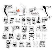 EleOption - Juego de 32 piezas de prensatelas multifuncionales para máquina de coser doméstica, accesorios