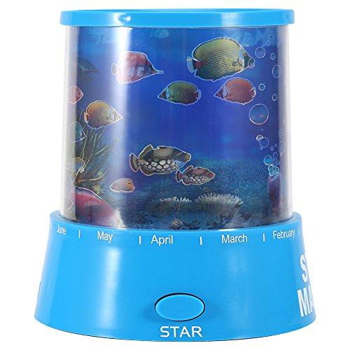 Lampe Projektor-Romantische LED Projektor Lampe Ozean Meer Aquarium Nacht Licht farbigem Lichter des dormage Zimmer Dekoration Kinder Geschenk (Adorable Tank)